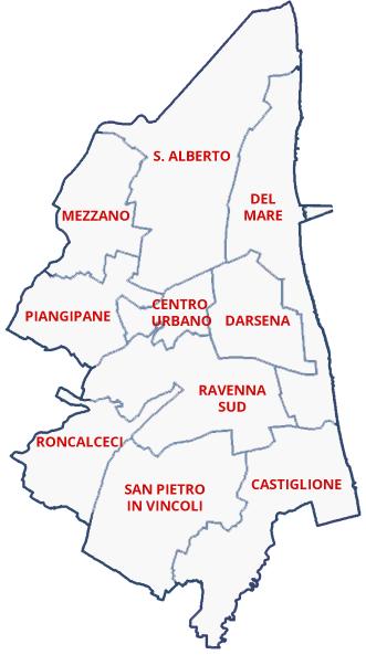 Mappa elenco circoscrizioni