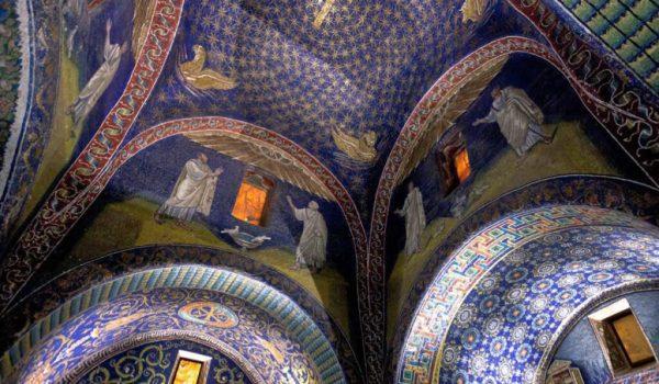 Cielo Galla Placidia mosaico di notte