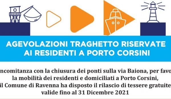 Traghetto gratuito per i nuclei familiari di Porto Corsini